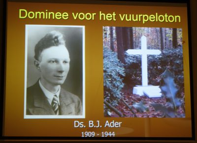 Foto's lezing Constant v.d. Heuvel over ds. B.J. Ader (26 januari 2019)