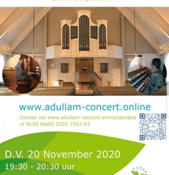 Adullam concert online D.V. 20 november