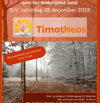 Winterwandelen voor Timotheos | 28 december